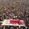 لاہور:تحریک لبیک پاکستان کے سربراہ خادم حسین رضوی کی نماز جنازہ مینار پاکستان کے گریٹر اقبال پارک لاہور میں ادالاکھوں افراد کی شرکت